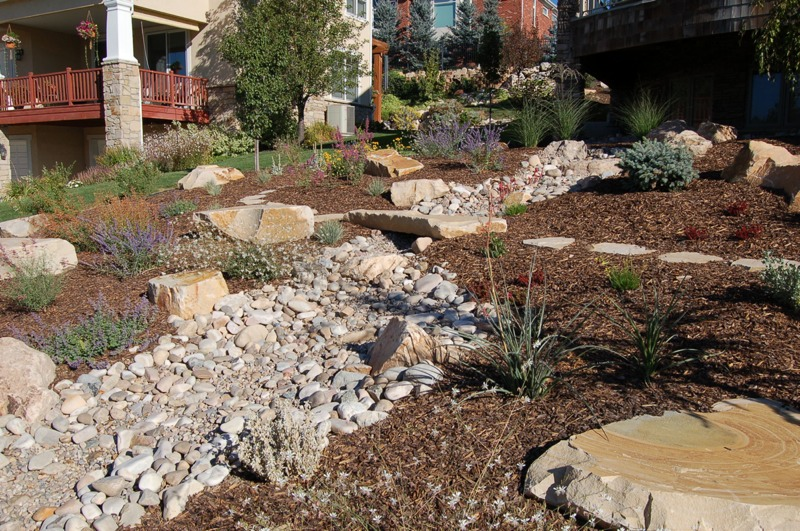 Hardscaping Dry Garden Landscaping Ideas : Xeriscape design and landscaping hardscape
